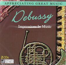 2 CD BOX APPRECIATING GREAT MUSIC DEBUSSY IMPRESSIONS IN MUSIC JIMBO SYRINX ETC