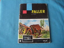 465 H FALLER 1961/62 CATALOGUE 64 PAGES TAMPON MAGASIN MAQUETTES AVIONS...