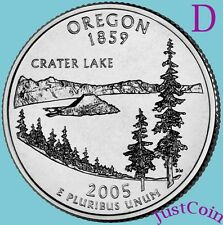 2005-D OREGON STATE (OR) QUARTER UNCIRCULATED FROM U.S. MINT * STATE QUARTERS