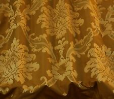 "Bronze/Copper Damask Jacquard 100% Silk Fabric 54"" Wide, By The Yard (JD-44107)"