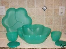 NEW Tupperware CHIP N DIP BOWL Set ~Toucan Teal/Blue-Green~