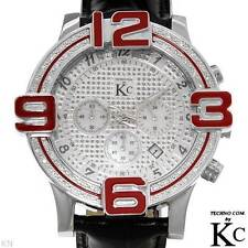 TECHNO COM by KC Men's Watch w/ Genuine Diamonds & Mother of Pearls, .20 ctw