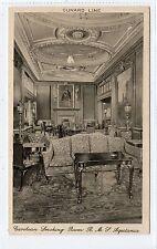 R.M.S. AQUITANIA: Cunard Line shipping postcard (C20649)