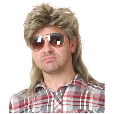 Blonde Mullet Wig Joe Dirt Trailer Park Redneck White Trash 80's Adult Mens