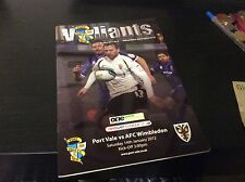 Port Vale v AFC Wimbledon 2011-12 First Season in League