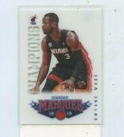 DWYANE WADE 2012-13 Panini Marquee Champions Insert Card #10  Miami Heat