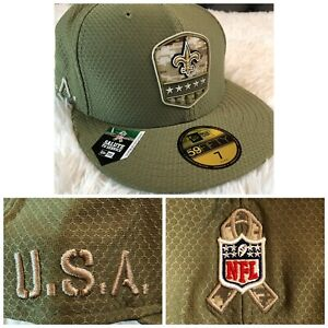 New Era New Orleans Saints 59Fifty Size 7 Salute to Service Fitted Hat Cap