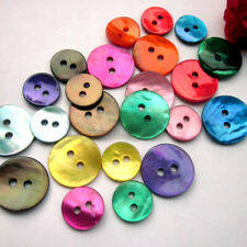 50 Pcs 15 mm Mother of Pearl Shell 2 hole Sewing Knitting Buttons