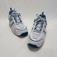 Women's Orthofeet BioFit Tie-Less Diabetic Shoe 910 Tahoe Wht w/Blu Trim Sz 10