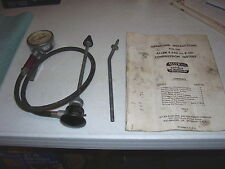VINTAGE ALLEN E-340 COMPRESSION TESTER with Manual