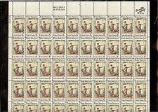 US MINT SHEET SCOTT#1470,ERROR STAMP DRAMATIC MISREGISTRATION DOUBLE IMAGE LEFT