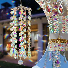 Colorful Crystal Wind Chimes Perfect Hanging Decor Garden Patio Lawn Decoration