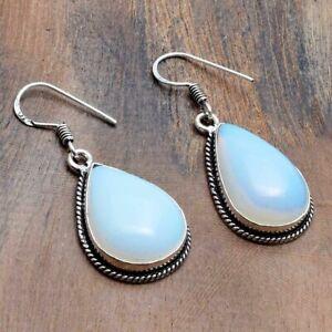 "Opalite Handmade Drop Dangle Earrings Jewelry 1.6"" AE 35896"