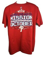 MLB Philadelphia Phillies Mens Large Shirt World Series Fall Classic Baseball