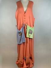 BLUE FISH CLOTHING Organic Cotton Art To Wear Pockets Orange Jumper Dress Size 2