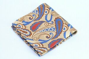 Lord R Colton Masterworks Istanbul Taupe Paisley Silk Pocket Square - $75 New