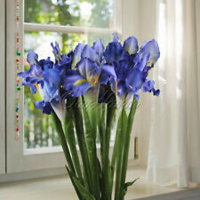 Artificial Fake Silk Flowers iris Real Touch Wedding Bouquet Home Vase Decor