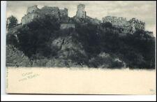 Ruine Rheinfels bei Bingen RLP Postkarte ~1910/20 Partie an der Burg ungelaufen