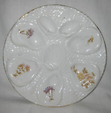 """ANTIQUE FRENCH OYSTER PLATE 9.1/4"""" c. 1900s"""