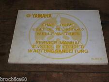 MANUEL TECHNIQUE D ATELIER CARDAN YAMAHA SERIES XS service manual Shaft Drive