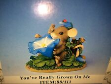 "Charming Tails ""You'Ve Really Grown On Me"" Signed By Dean Griff Summer Flower"