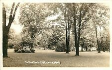 1930s RPPC Postcard; In the Park at St. Louis MI Gratiot County Unposted