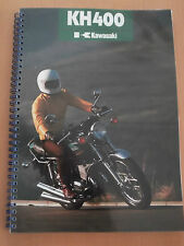 Kawasaki KH400 A3 A4 Parts Manual/s including FREE Sales Brochure.