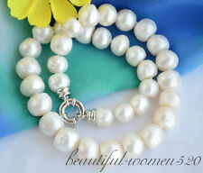 z6503 15mm white baroque freshwater cultured pearl necklace 17inch