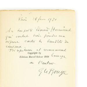 Gustave le ROUGE Verlainiens et décadents EO Envoi signé à Edmond Haraucourt