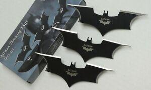 "6"" Long Batman Knife Stainless Steel Blade 3pcs Set In Nylon Sheath - Batman"
