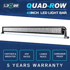 "42inch 2880W QUAD ROW LED Work Light Bar Flood Spot Offroad SUV Truck 4WD 44/50"""