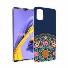 Samsung Galaxy A51 Case Girl Women Flexible Soft TPU Fashionable Fortune Flower