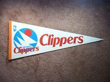 LATE 1970'S EARLY 1980'S SAN DIEGO CLIPPERS NBA BASKETBALL PENNANT FLAG SHARP!!