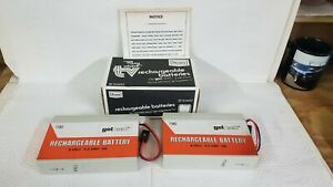 """Vintage """"go any where"""" tv rechargeable batteries by Sears"""