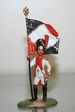 RARE & SPECIAL NAPOLEONIC WARS, GRENADIER OFFICER W/STANDARD. 54MM PAINTED METAL