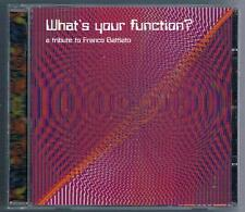 WHAT'S YOUR FUNCTION? TRIBUTE TO FRANCO BATTIATO CD F.C