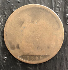 GREATS BRITAIN 1866 ONE PENNY VERY NICE COIN L3