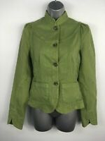 BNWT WOMENS FRENCH CONNECTION SAGE GREEN BUTTON UP FITTED LIGHT JACKET UK 10