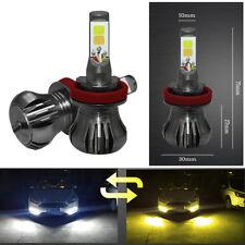 2 x H8 H9 H11 12V 24V 9600lm LED Dual Color Fog Light Car Auto Head Light Bulbs
