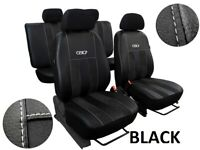 "VW GOLF Mk7 2012 - 2016 ARTIFICIAL LEATHER & ALICANTE ""GT"" TAILORED SEAT COVERS"