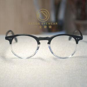 Retro vintage eyeglasses mens womens acetate blackcrystal glasses RX eyewear