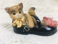 Calico Kittens Ensco I'll Be There Every Step Friend Gift Trinket Cat Figurine