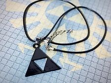 The Legend of Zelda - Triforce Symbol Collectible Rope Necklace - Black - NEW