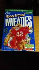 EMPTY !! 1997 Honey Frosted Wheaties box NFL Star Ronnie Lott EX
