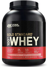 Optimum Nutrition Gold Standard Whey Protein Powder 5Lb, Strawberry And Creme