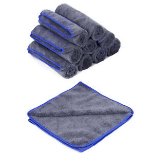 100PCS Microfiber Car Washing Cleaning Cloths Absorbent Grey 300GSM Drying Towel