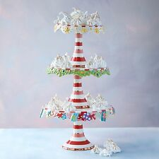 Glitterville Christmas Cake Plate Stand - 3 Tier - Candy Cupcake Party CS0079