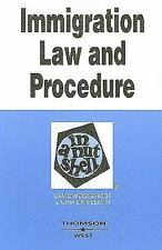 Immigration Law and Procedure in a Nutshell by David Weissbrodt and Laura Daniel