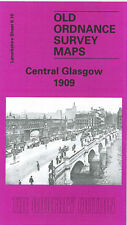 OLD ORDNANCE SURVEY MAP CENTRAL 1909 GLASGOW SAUCHIEHALL STREET FINNIESTON