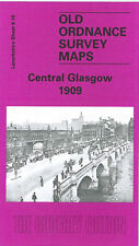 OLD ORDNANCE SURVEY MAP CENTRAL GLASGOW 1909